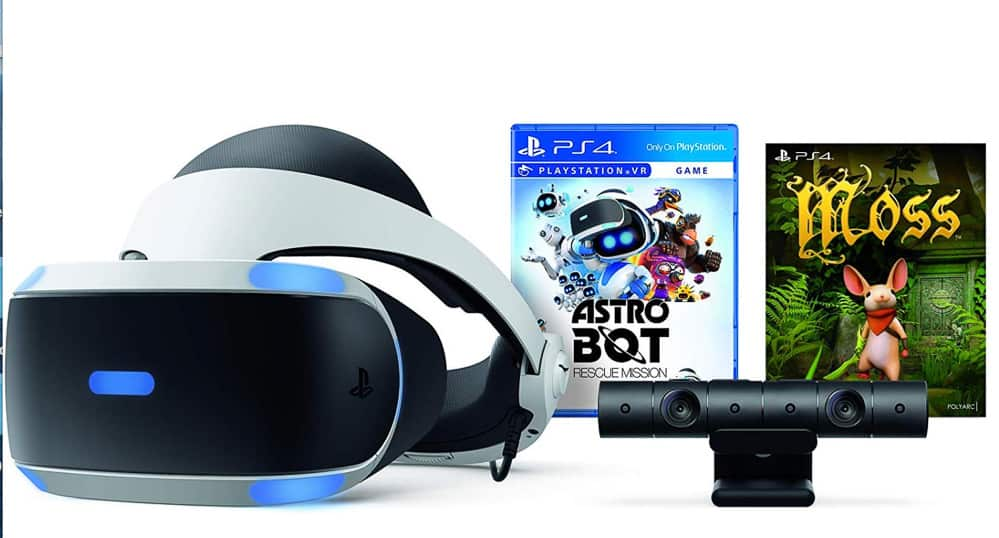 PS4 Virtual Reality Black Friday deal - white headset with two games