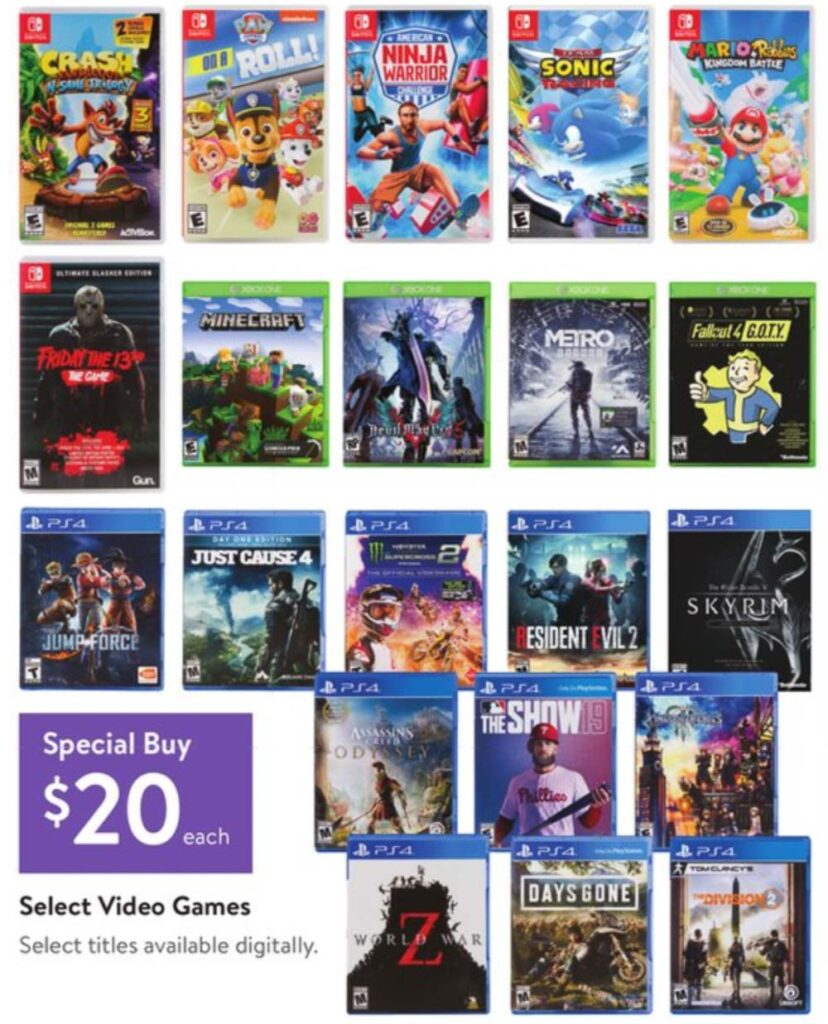 Walmart black friday video game deals