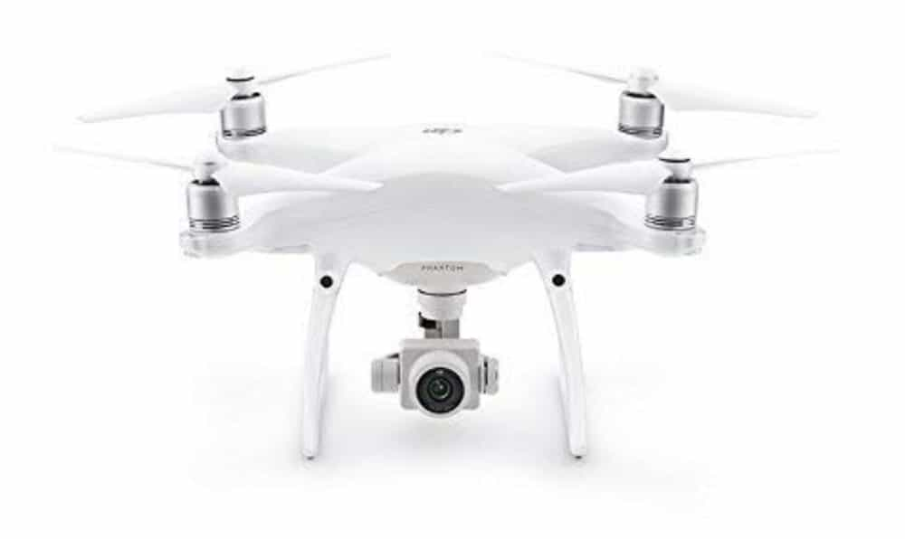 Amazon drone in white.