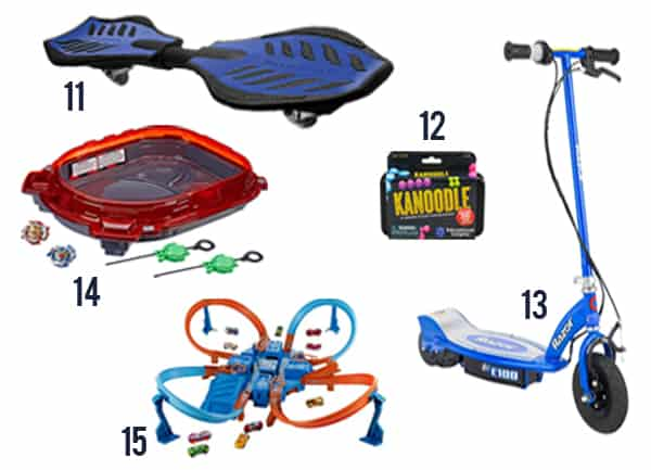 Best gifts to give boys for christmas - items 11-15 with white background.