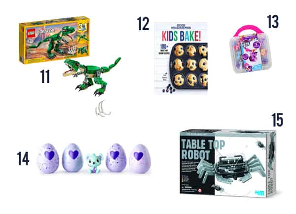Cheap Gifts for Kids 2019 - Toys and games for kids on white background numbers 11-15