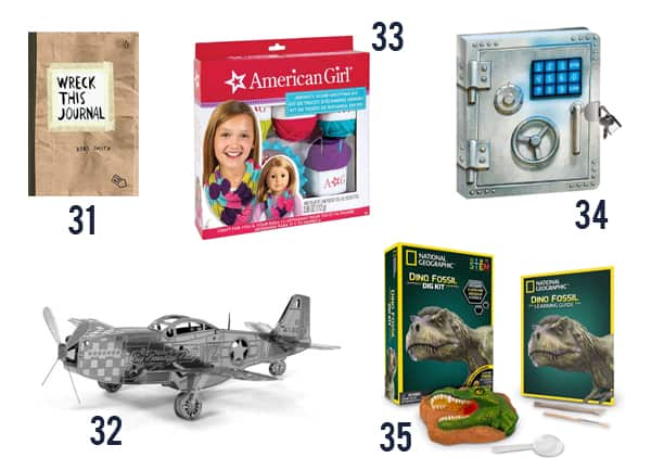 Cheap Gifts for Kids under $15 - Toys and games for kids on white background numbers 31-35