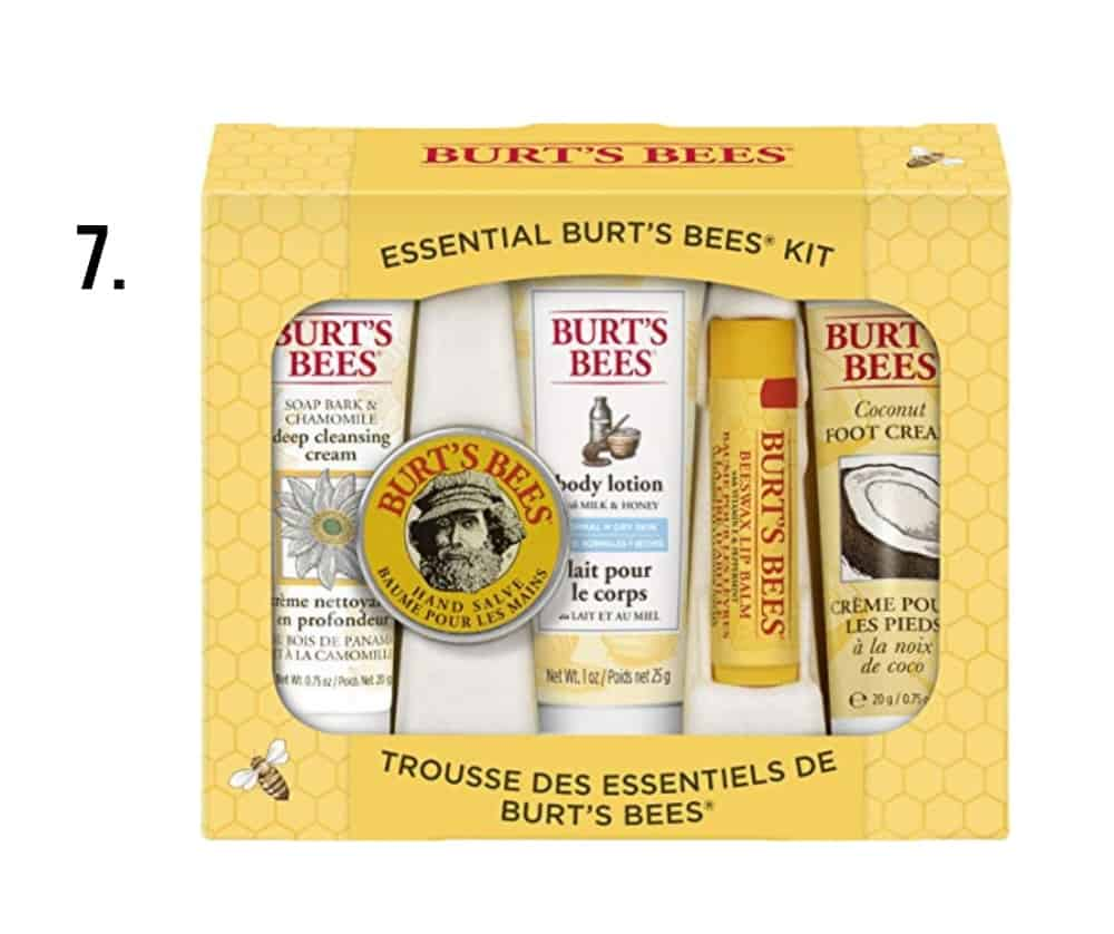 Burts Bees Kit - number 7 on this list of white elephant gift ideas under $10
