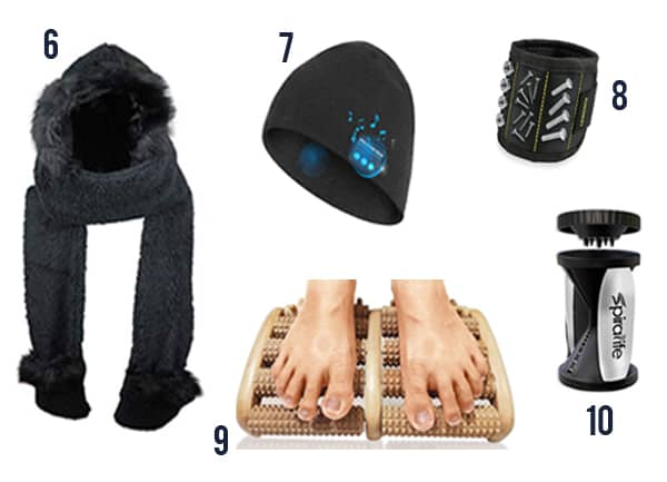 17 Creative White Elephant gift ideas like scarfs, beanies, and spriralizers.