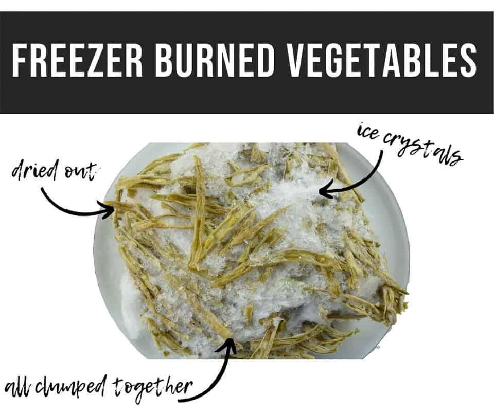 freezer burn on vegetables