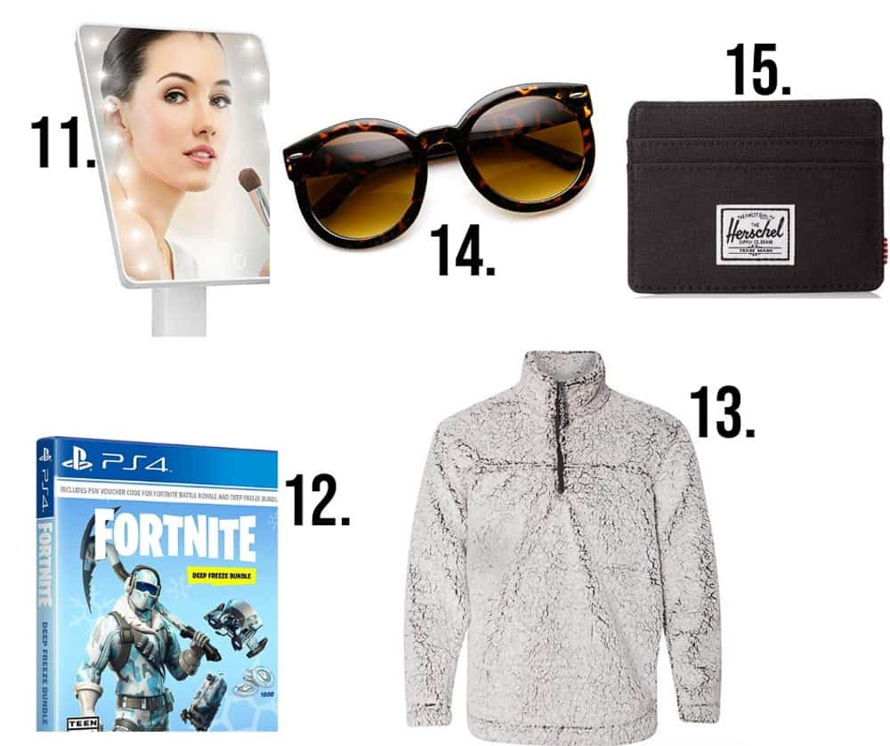gift ideas for teens numbered 11-15