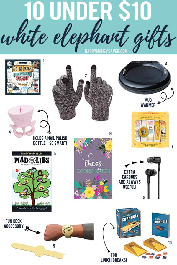 10 creative and fun white elephant gift ideas for holiday parties under $10!