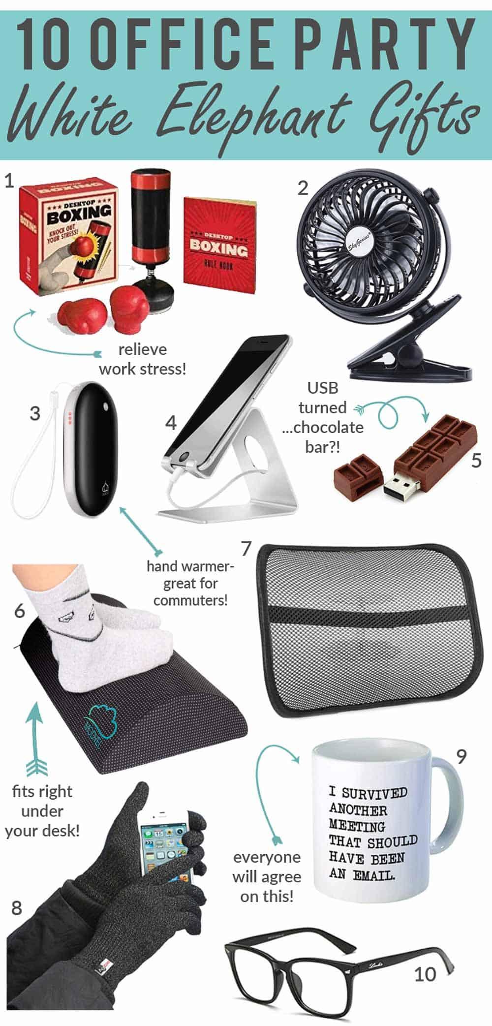 20 Office Party White Elephant Gift Ideas   Happy Money Saver