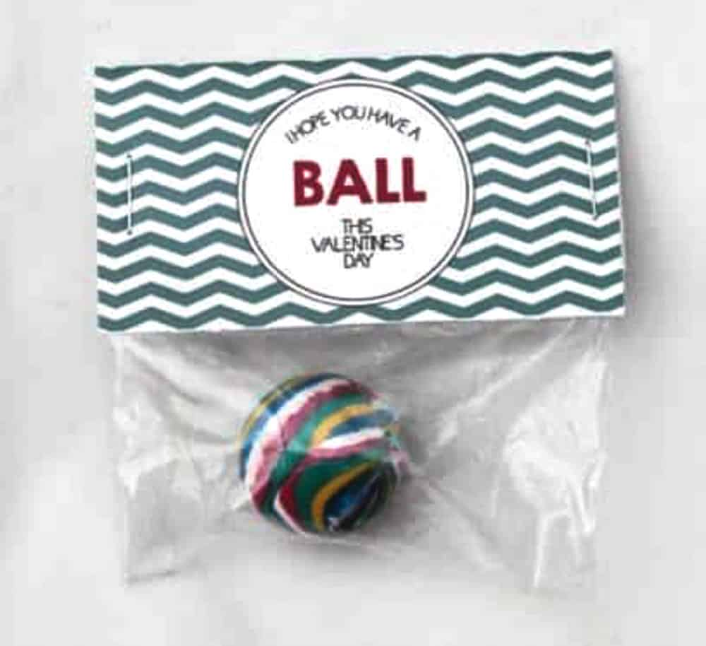 Hope you have a ball Valentine Idea