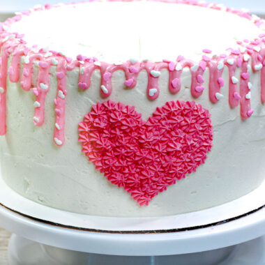 How to Make Valentine's Day Heart Marble Cake