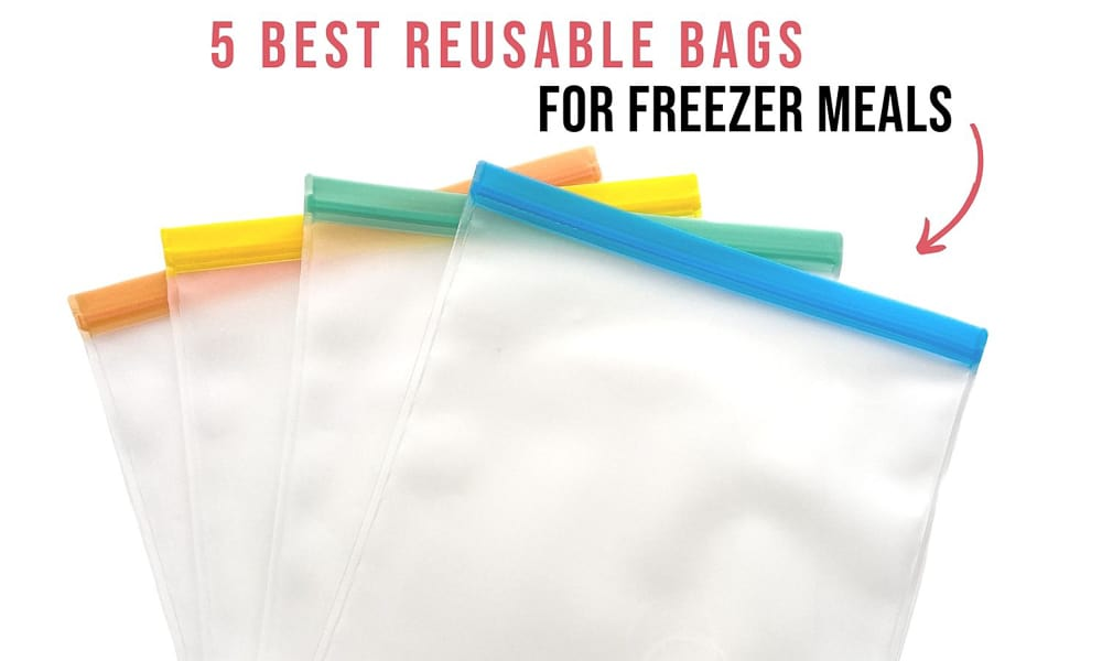 4 Different Reusable Gallon Sized bags with 4 different colored tabs