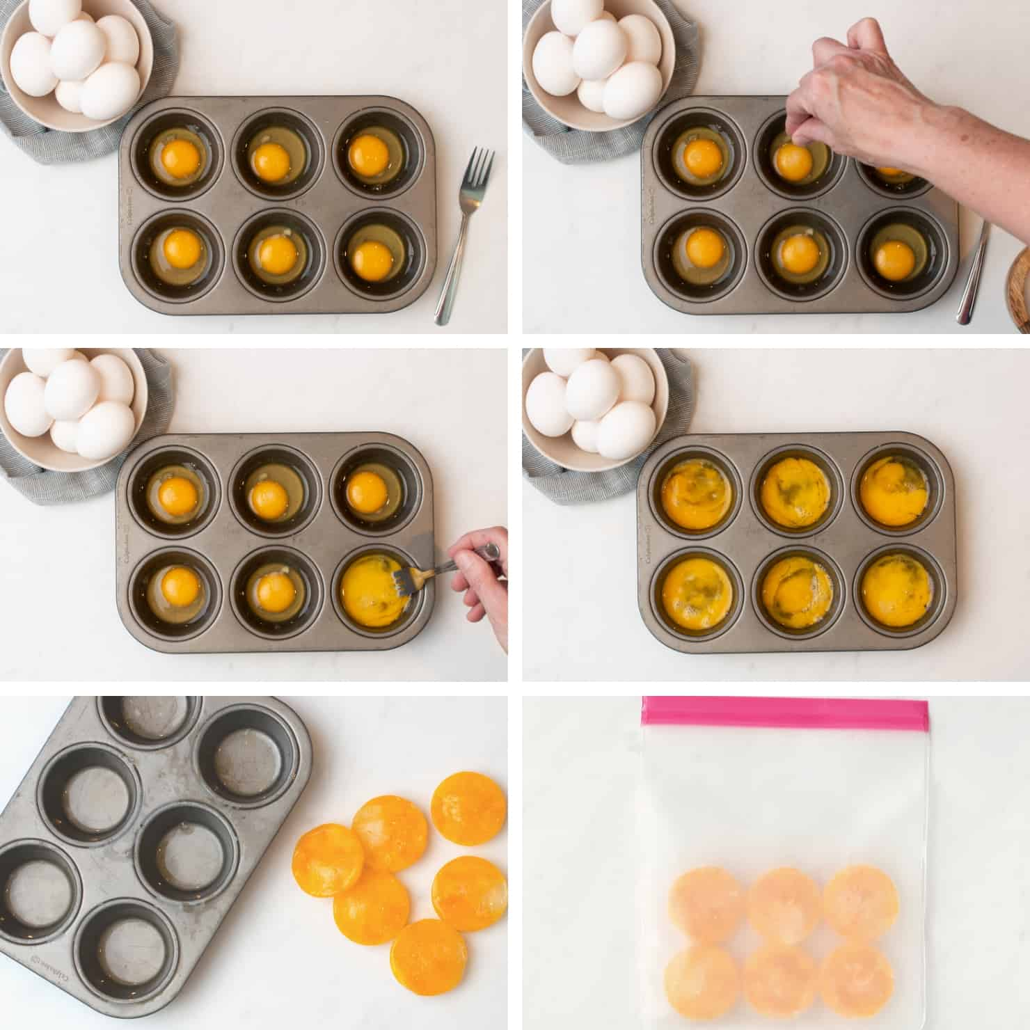Can you freeze eggs? YES you can! Here is a post on how to properly freeze eggs to use later. - step-by-step directions on how to freeze eggs properly in muffin tray