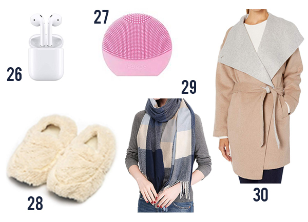 slippers, scarf, coat and other items for giving to moms in 2020