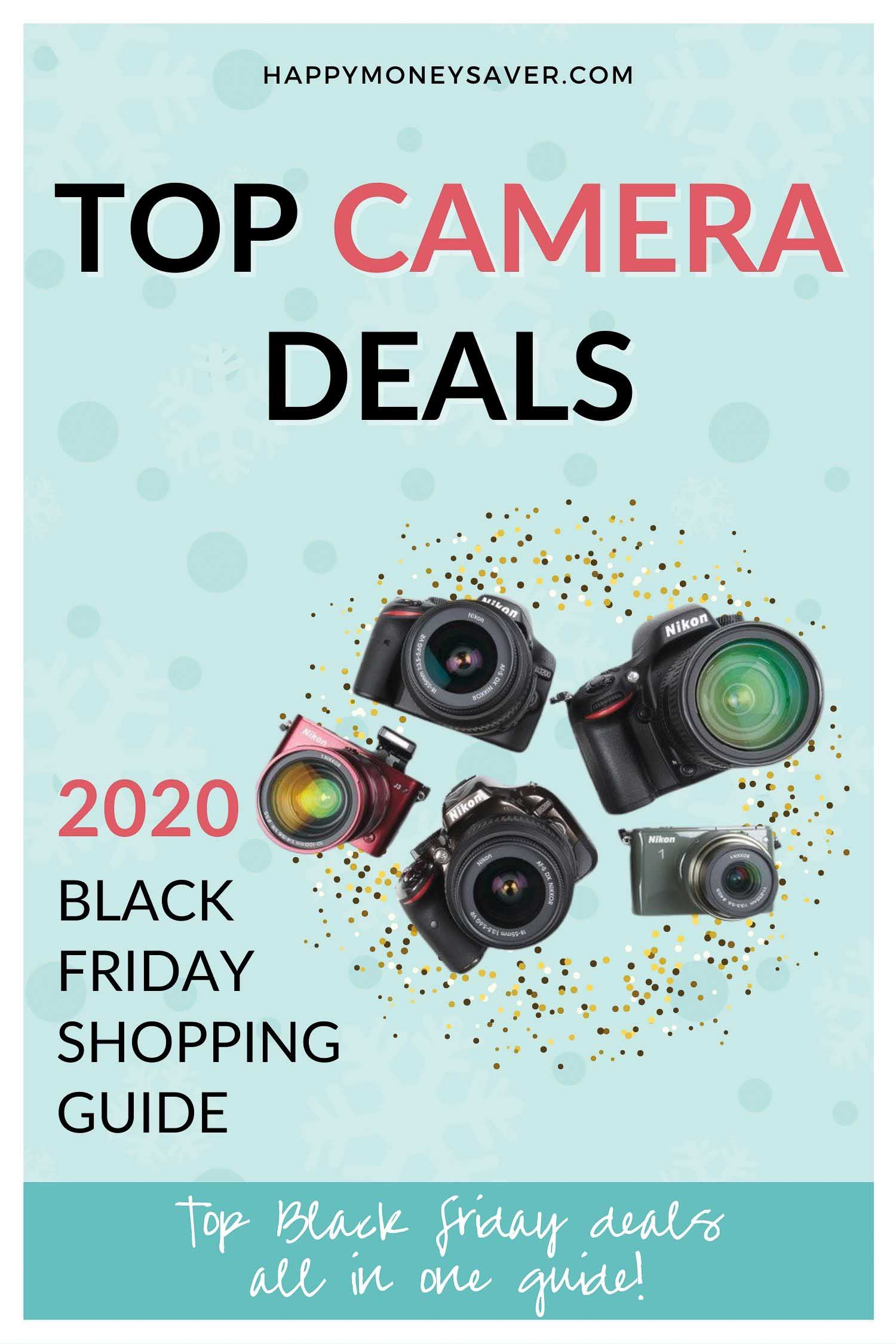 HUGE roundup of all the Black Friday Camera deals for 2020! Black Friday Canon camera deals, Nikon, Panasonic, Polaroid and other DSLR camera deals. Research is all done for you! You're gonna love this if you love saving money!