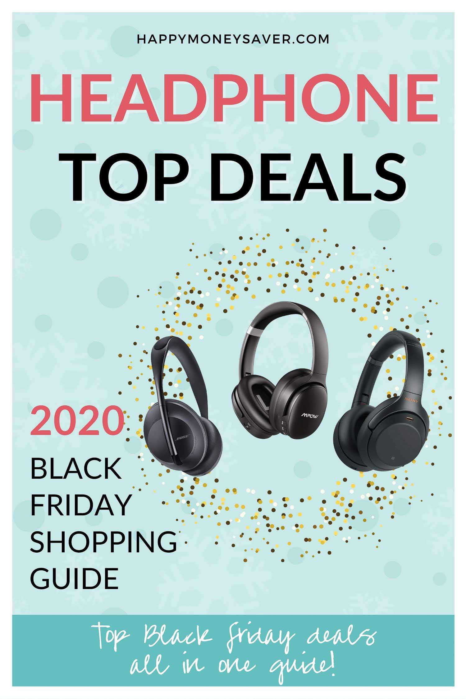 HUGE roundup of all the headphone deals for Black Friday 2020! Bluetooth headphones, beats dr dre headphones and more.