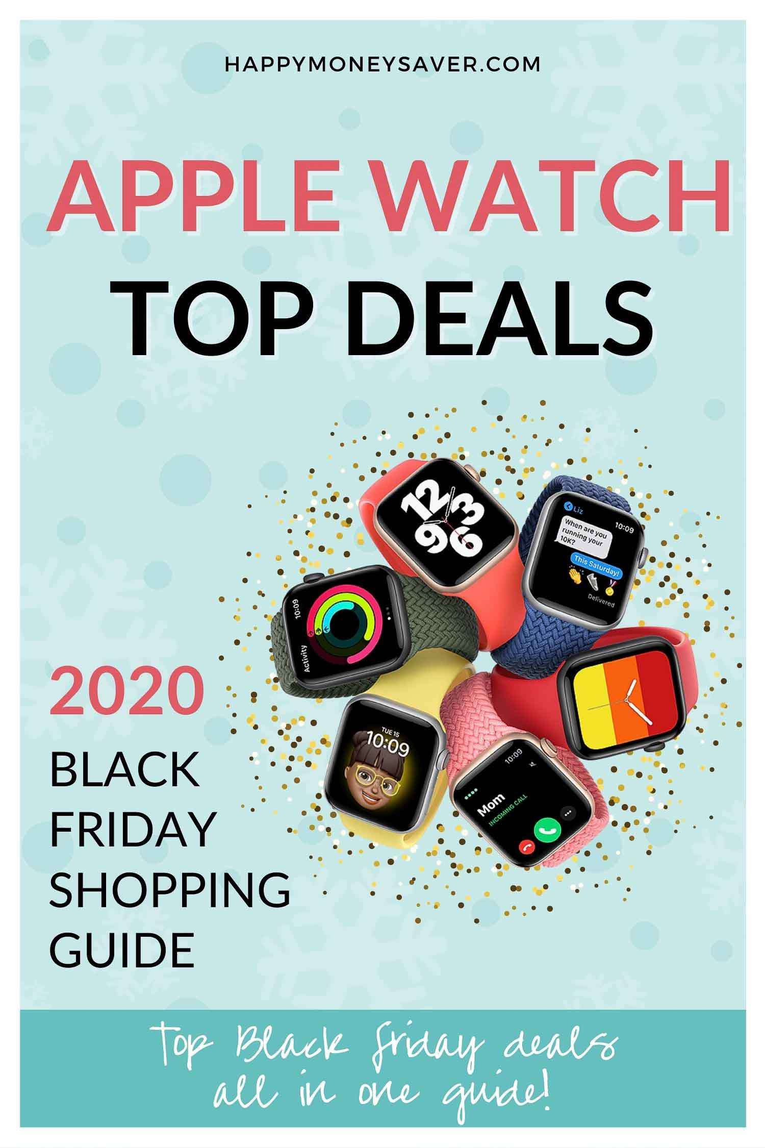 HUGE roundup of all the apple watch Black Friday deals for 2020! Research is all done for you! You're gonna love this if you love saving money! #blackfriday #applewatch via @happymoneysaver.com