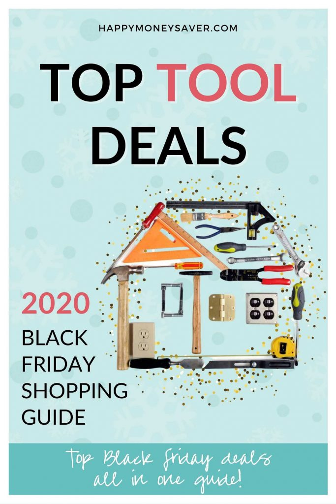 Black Friday Tool sale roundup of deals for 2020 graphic with image of scooter on it and words.