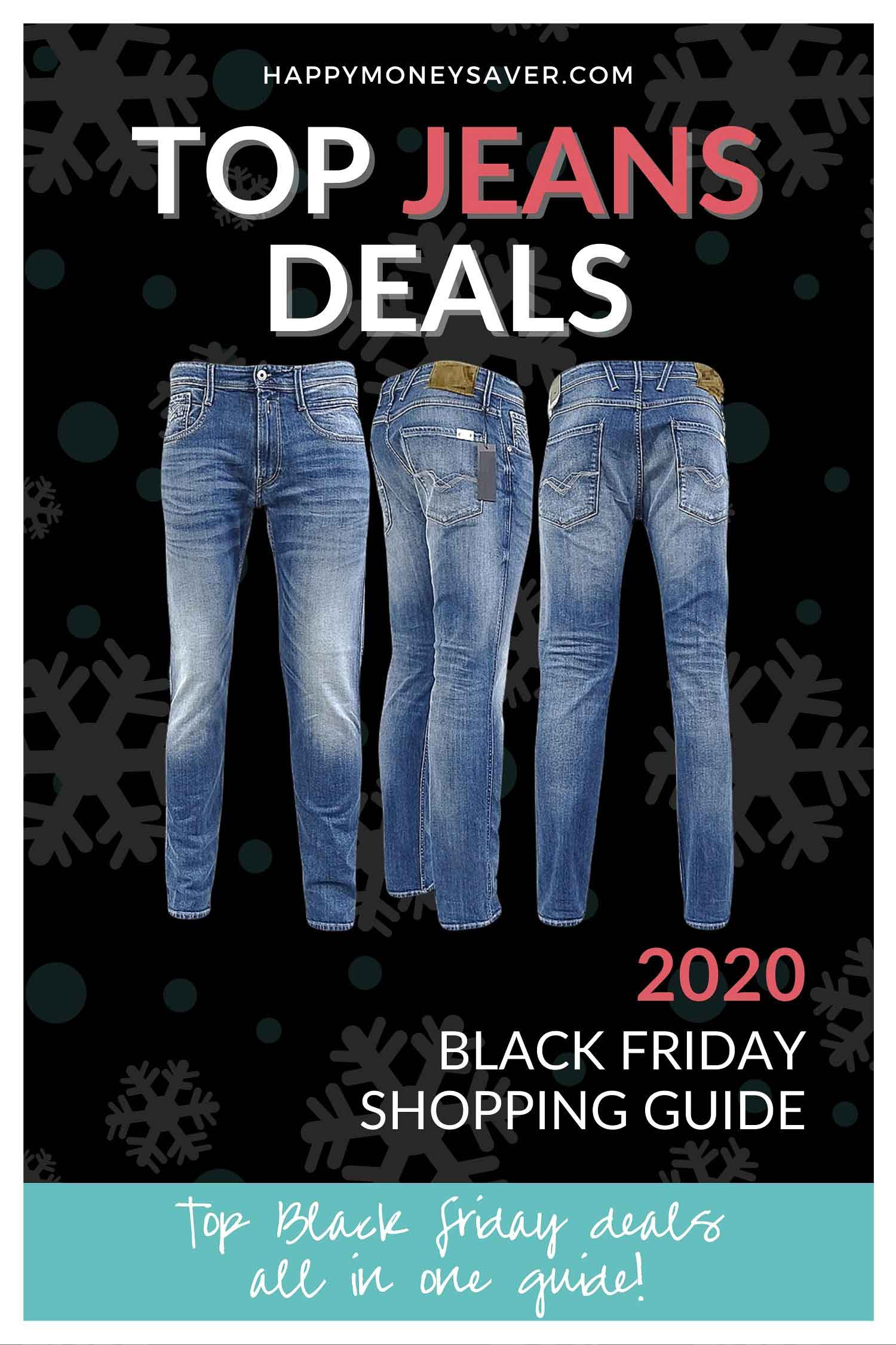 Here is a round up of all the top Black Friday Jeans Deals 2020