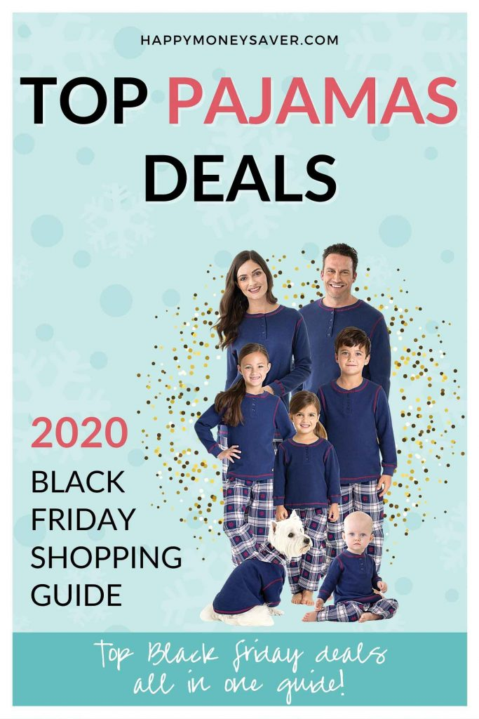 Round up of ALL the Top pajama deals for black friday 2020