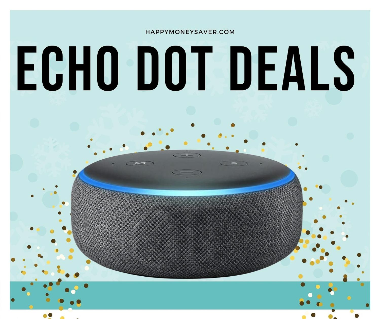 Image of the Amazon Echo 3rd generation smart home device. Black Friday 2020 smart home deals