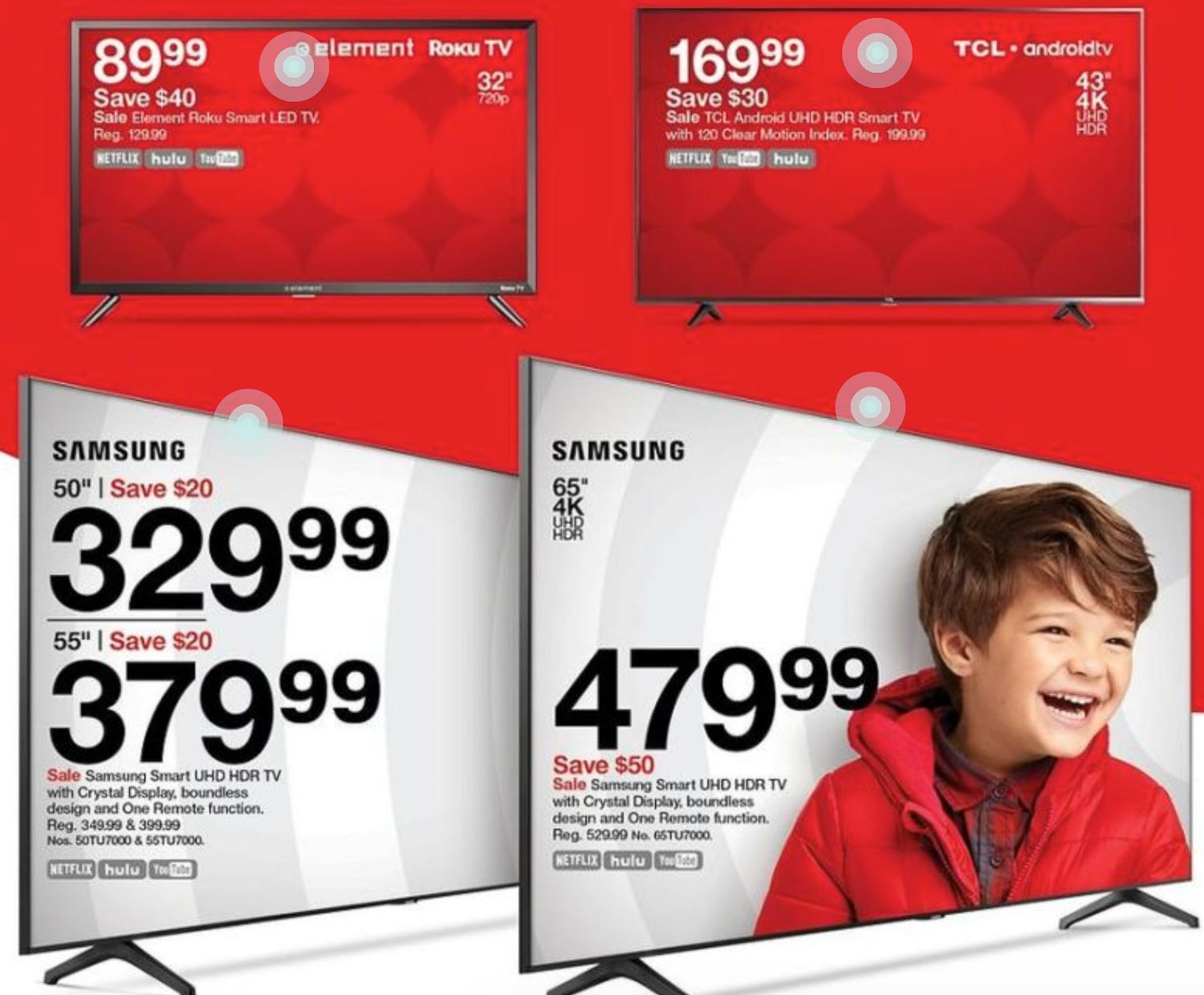 target black friday ad with tv deals on it