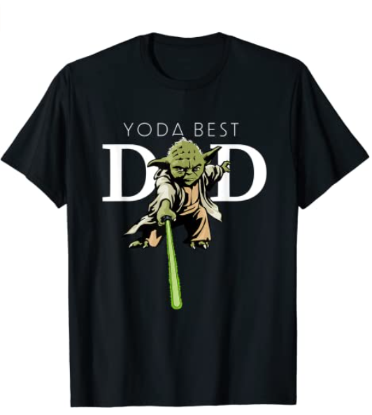 A black t-shirt with the words